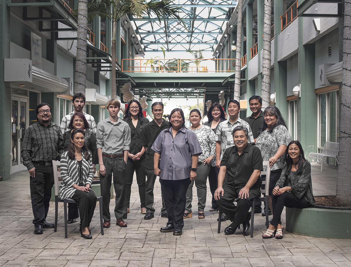 Group Photo of the entire 2017 Hawaii Information Service Staff
