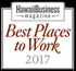 Logo for Hawaii Business Magazine's Best Places to Work 2017