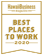 Hawaii Business Magazine Best Places to Work for 2020, in gold, Hawaii Information Service's fifth year in a row to be awarded
